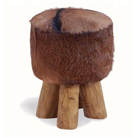 Cowhide Stool cowhide stool bluebone cuckooland