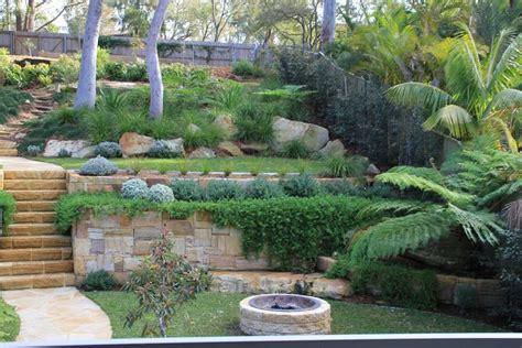 australian native landscape design sloped block sloped