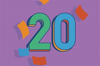 Anos Birthday 20th Happy Aniversario Feliz Number