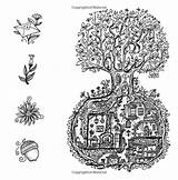 Coloring Secret Gate Village Forest Beneath Floor Among Beyond Adventure Hollow Trees Adult Gates sketch template