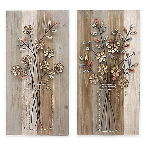 stylecraft bouquet wood  metal wall art collection
