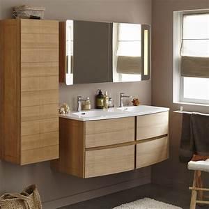 Relooker Meuble Salle De Bain : meuble de salle de bains plus de 120 brun marron fairway leroy merlin ~ Melissatoandfro.com Idées de Décoration