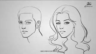 How to Draw a male and...
