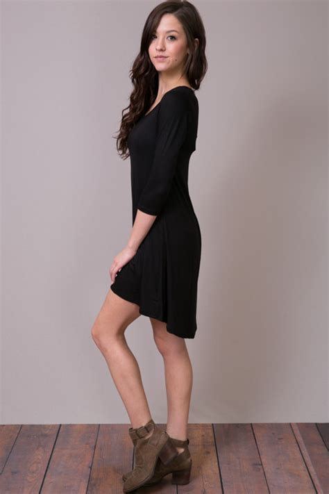 neck dress  black dress cameo
