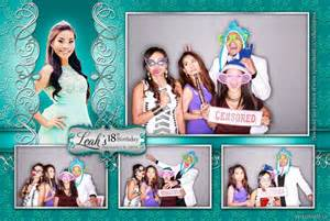 teal wedding celebration with 2 photo booth layouts