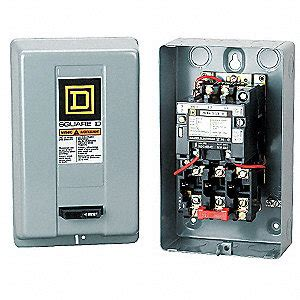 square d magnetic motor starter 240vac coil volts nema