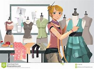 Fashion Designer At Work Royalty Free Stock Images - Image ...