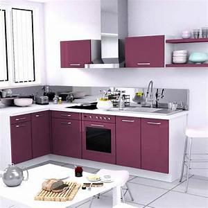 Cuisine équipée Solde : cuisine amenagee solde meuble cuisine gris cbel cuisines ~ Teatrodelosmanantiales.com Idées de Décoration
