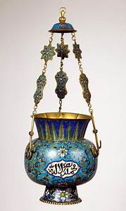 Mosque, Lamp, With, Cloisonn, U00e9, Enamel, Decoration