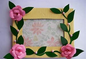 handmade photo frame craft project ~ art craft projects