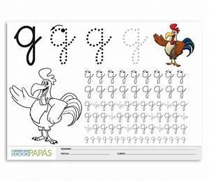 Aprender a escribir y leer la letra g minúsculas