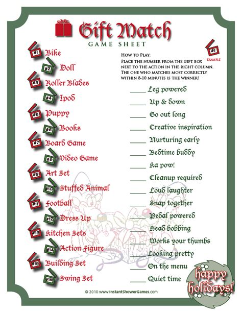Free Holiday Printable Game!  The Shower Diva's Party