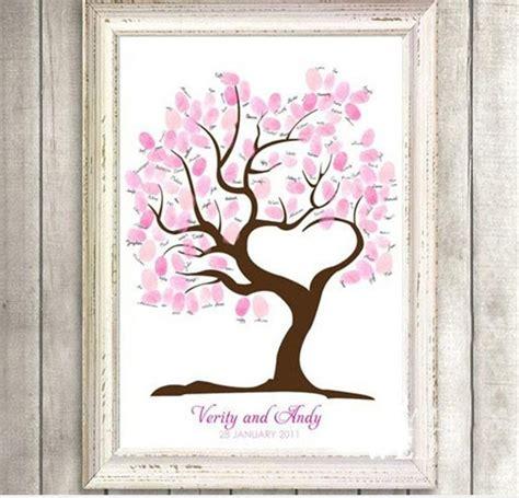 wedding decoration diy fashion casamento wedding guest book fingerprint tree signature tree sign