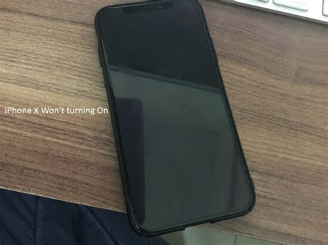 iphone wont stay on iphone x screen not turning on or stay in blue black 1366
