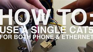 How To Use A Single Cat5 Cable For Both Phone And Ethernet