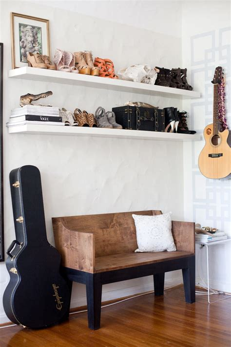 Entryway Shelving - 10 ideas to store shoes in your entryway