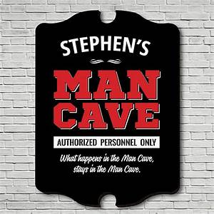 Personnel, Only, Man, Cave, Personalized, Sign