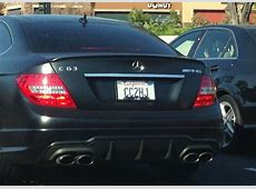 Photo of the Week C63 AMG with BMW M License Plate Frame