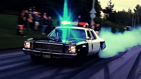 Plymouth Fury Police Car BURNOUTS! - YouTube