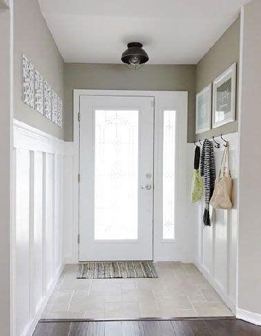 deco entree maison peinture blanche  lin salons