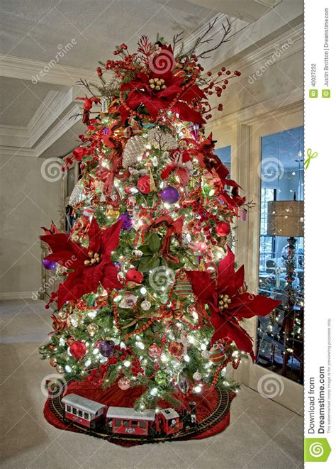 christmas tree ornaments stock photo image  tree