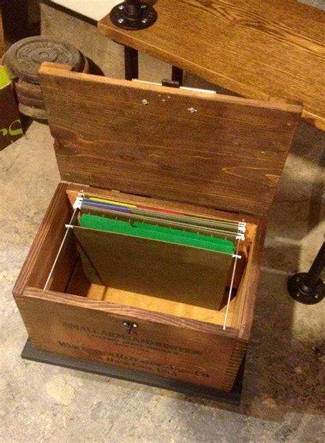 hanging file holder wood box  casters   wood box