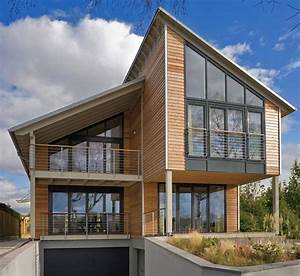 Haus Mit Holzfassade : architekten baufritz design gesundheit giebelverglasung glas glasarchitektur haus ~ Markanthonyermac.com Haus und Dekorationen