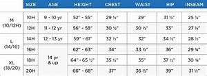 Boys Size Chart Customer Service French Toast French