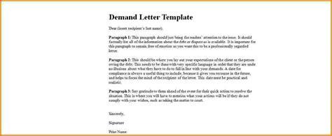 Demand Letter Template 5 Formal Demand Letter Template Financial Statement Form