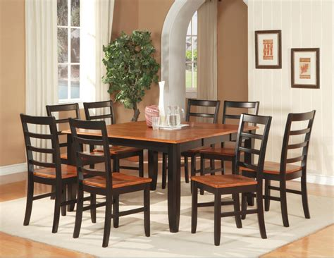 square dining table set 7 pc square dinette dining room set table with 6 wood seat