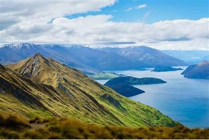 Places Zealand Wanaka Travel Peak Distance Mountains