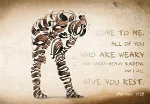 Bible verses about Strength - Matthew 11:28 HD Wallpaper ...