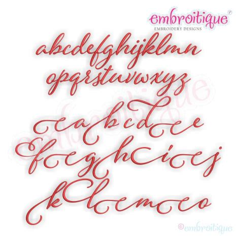 alphabets embroidery fonts eleanor set  small calligraphy script machine embroidery