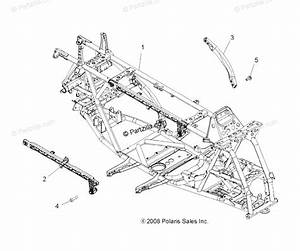 Polaris Atv 2009 Oem Parts Diagram For Chassis  U0026 Main Frame