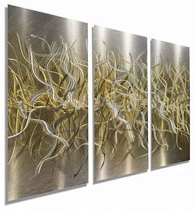 Wall art designs gold hand etched silver and