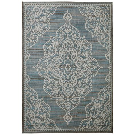 teal indoor outdoor rug home decorators collection cecil teal 9 ft x 13 ft