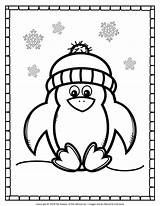 Penguin Coloring Printable Penguins Activities Winter Preschool Printables Craft Toddlers Crafts Worksheets Comment Leave Learning December Some sketch template