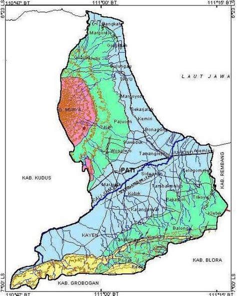 kabupaten pati peta kota pati