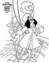 Coloring Hook Captain sketch template