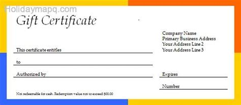 gift certificate template word free gift certificate template map q holidaymapq