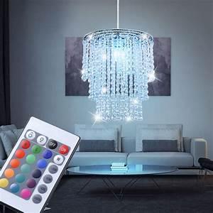 Led Kristall Leuchte : 7 w rgb led pendel leuchte kristall decken lampe farbwechsel luster esszimmer ebay ~ Markanthonyermac.com Haus und Dekorationen