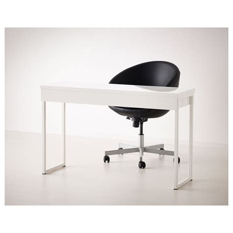 Bestå Burs Desk High Gloss White 120x40 Cm Ikea