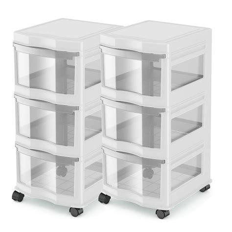 story classic 3 shelf storage organizer plastic