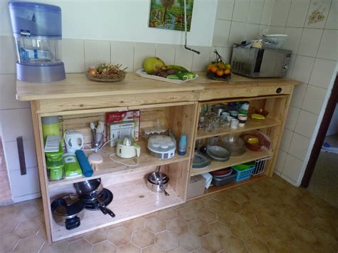 cuisine palette meuble de cuisine en palette rangement meuble cuisine