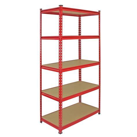 Metal Storage Shelves by 4 Heavy Duty Shelving Racking Garage 5 Tier Storage Units