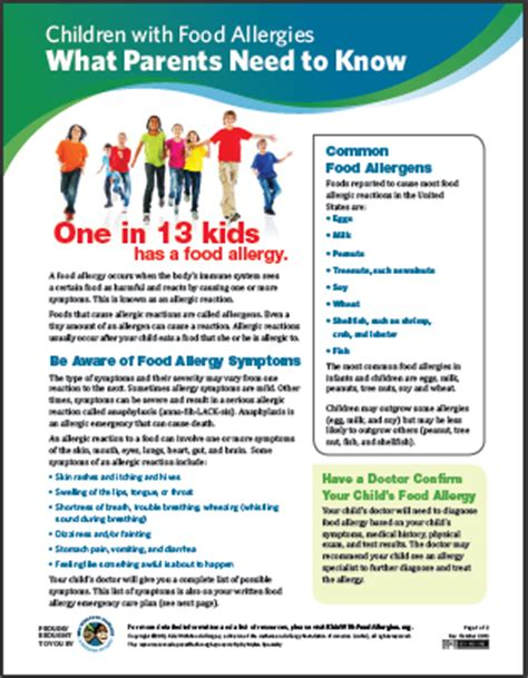 children  food allergies  parents