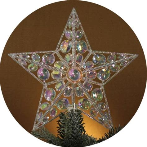 lighted iridescent star christmas tree topper christmas