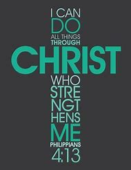 I Can Do All Things Through Christ Cross