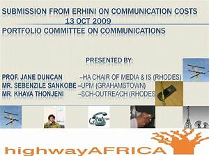 Parliament portfolio committee on comunications presentation