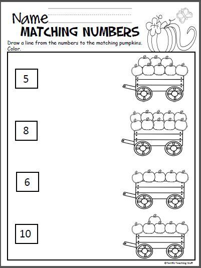 pumpkin math packet  kindergarten madebyteachers